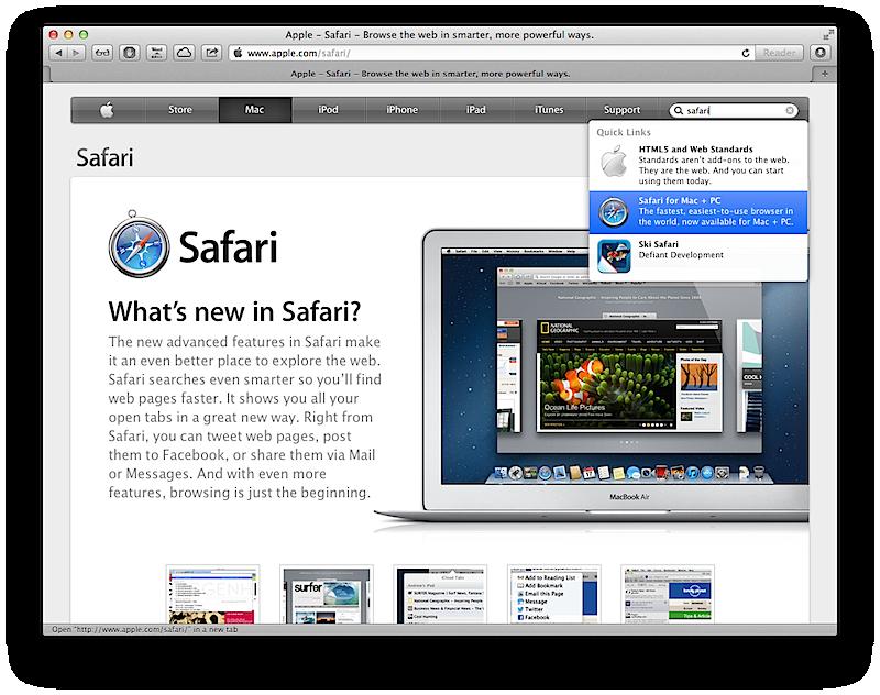 Новейшая версия Safari ликвидирует старые ошибки