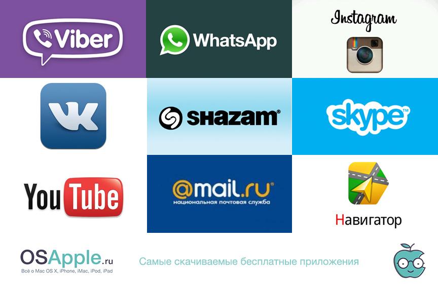 Самые скачиваемые приложения iOS