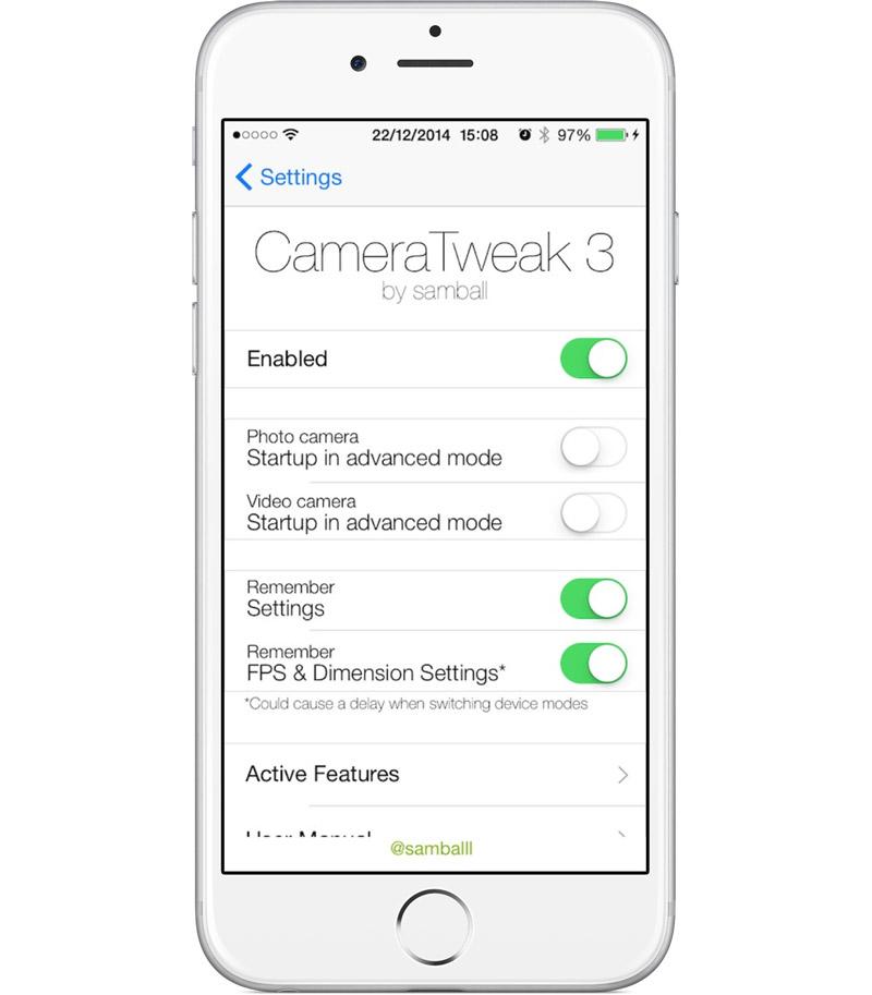 Интерфейс CameraTweak 3