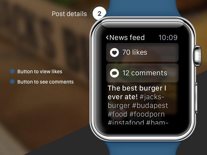 Для Apple Watch уже представлен венгерскими дизайнерами концепт Instagram