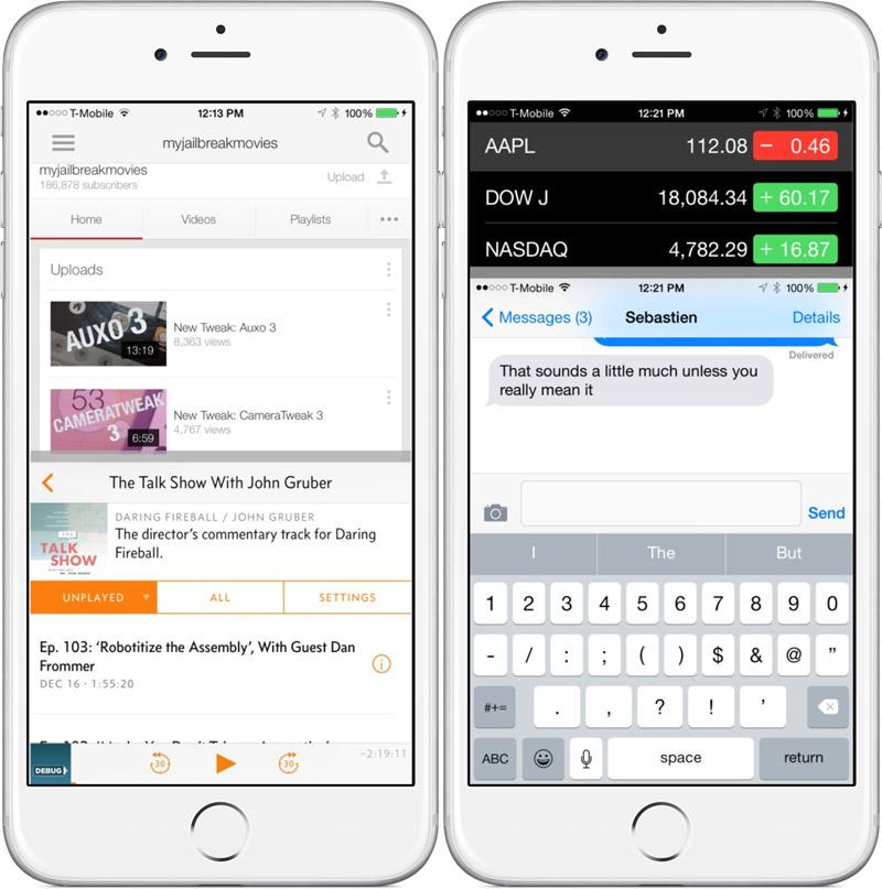 ReachApp: Apple готовит для iOS 8 мультиоконный режим