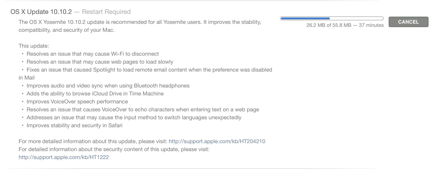 update Yosemite 10.10.2