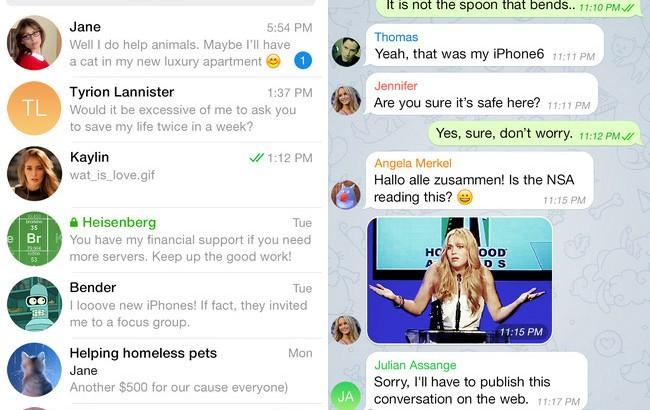 Мессенджер Telegram получил обновление