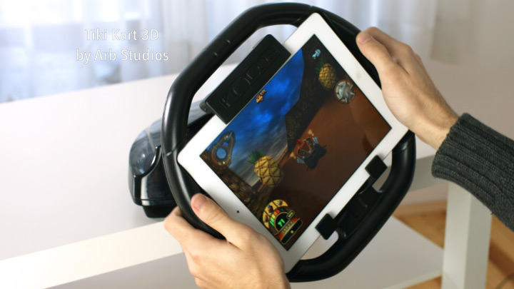 KOLOS подарила руль iPad