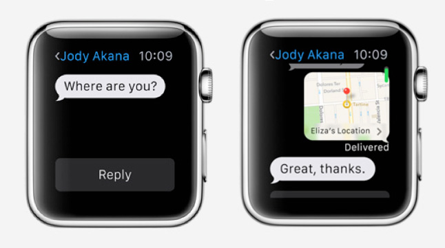 Штатные приложения Apple Watch