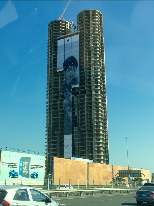 Гигантские фото на небоскребах демонстрируют возможности камеры iPhone 6