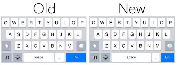 В iOS 8.3 откорректировали клавиатуру