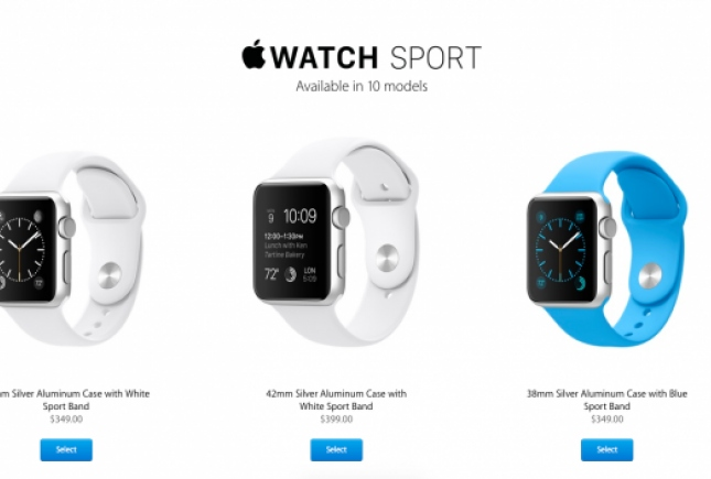 Предзаказ Apple Watch стартовал