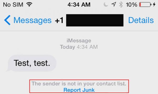 Мгновенные уведомления о спаме в iOS 8.3 beta 4
