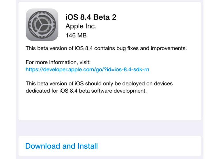 Apple выпустила beta 2 iOS 8.4