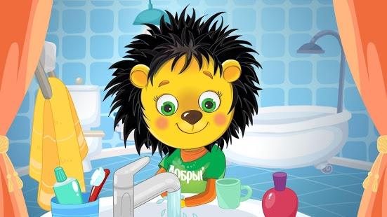 Учим ребенка чистить зубы с Добрым Ежиком