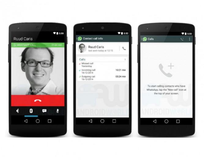 Обновление WhatsApp получило голосовые звонки