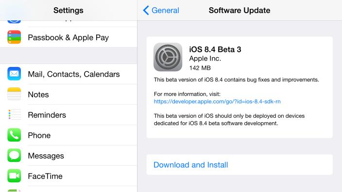 Что принесла iOS 8.4 beta 3