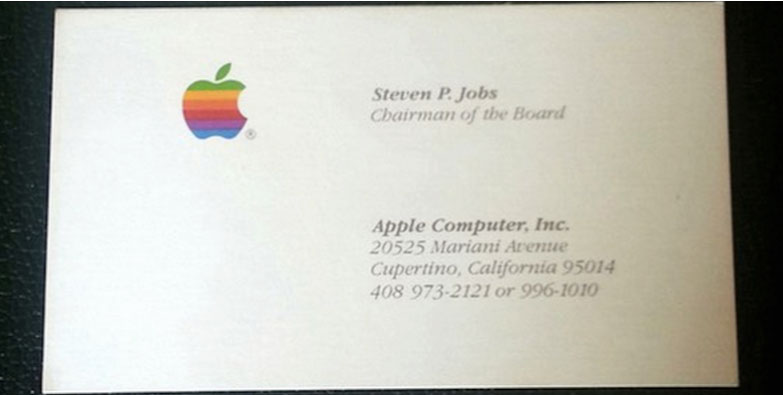 Визитки Стива Джобса ушли с молотка