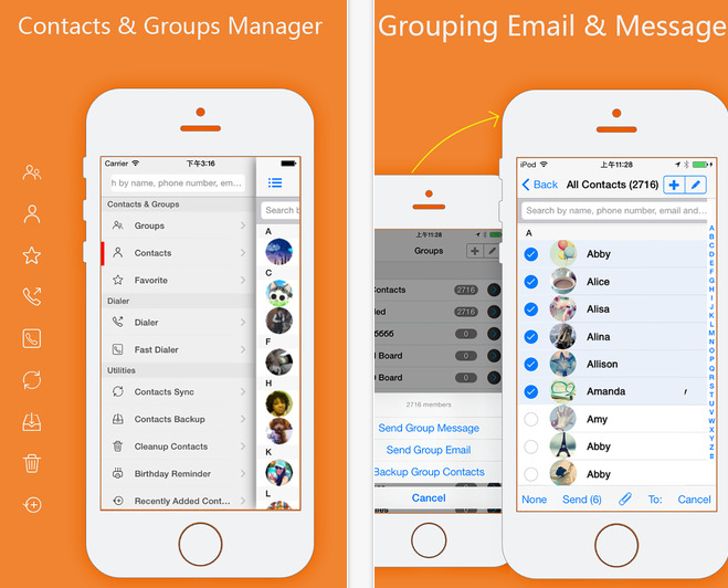 Iphone как сделать группы в контактах